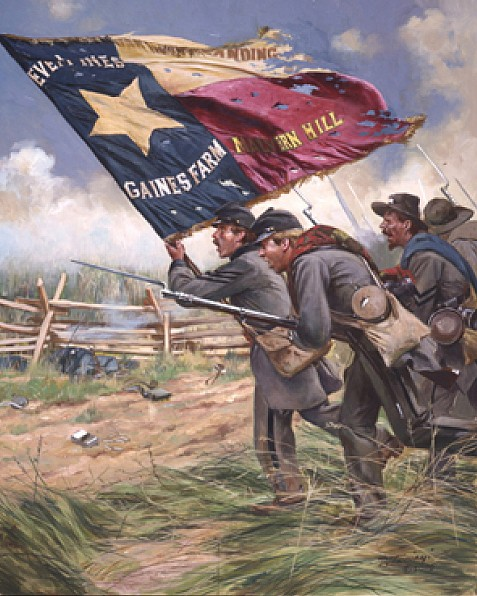 Color Bearer 1st Texas Regiment