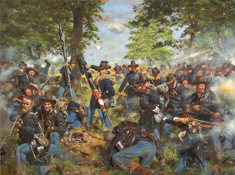 The Black Hats, 19th Indiana Iron Brigade - Gettysburg 1863