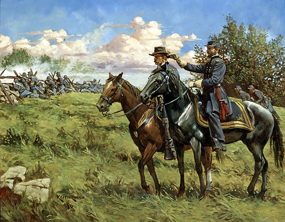 Reynolds and Buford at Gettysburg